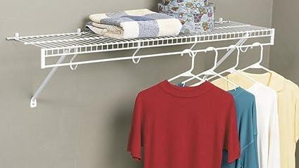 Genial Rubbermaid 3D4800WHT FreeSlide Closet Shelf Kit, 4 Feet, White