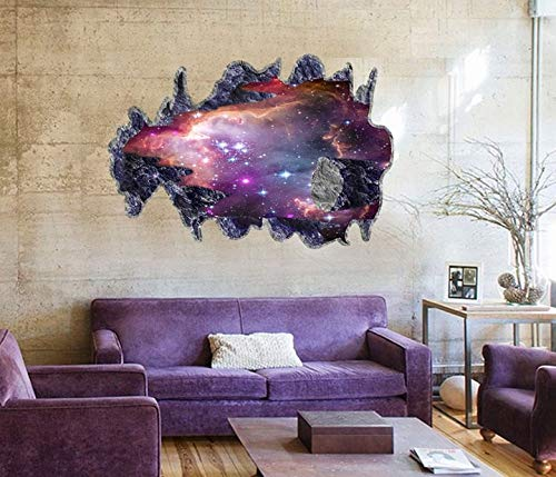 Wall Stickers - Sell 3d Galaxy Wall Sticker Decals Purple Outer Space Removable Vinyl Art Home Decor S - Marilyn Mickey Toddler Usa Volleyball Red Zombie Characters Vines Decal ()