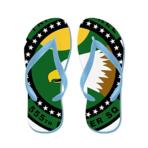 CafePress 555Th Fighter Squadron - Triple Nickel - Flip Flops, Funny Thong Sandals, Beach Sandals (Fighter 555th)