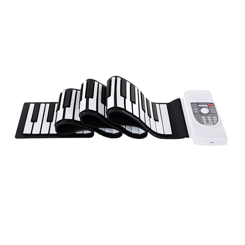 Electronic piano Electric Digital Roll Up Keyboard Piano Bluetooth Foldable 88 Keys Flexible Soft Silicon With USB MIDI Output Recording Programming Playback Tutorial Sustain Vibrato Functions Built-i by Shenghua1979-MU