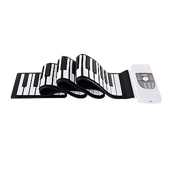 Piano de teclado flexible Bluetooth Plegable 88 Teclas Flexible Silicio Suave Eléctrico Teclado enrollable digital Piano