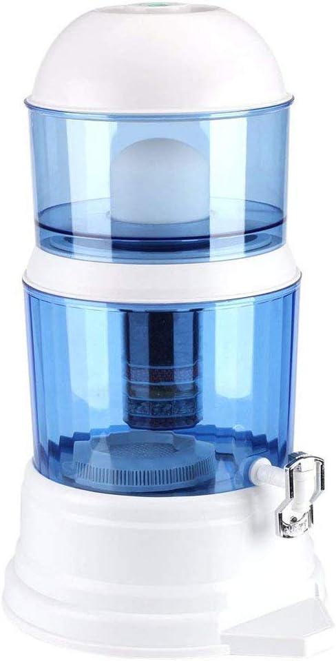 Purificador de agua grande – 16 L Filtro de agua fría purificador de agua sistema pH ajustable con cartucho extraíble y llave: Amazon.es: Hogar