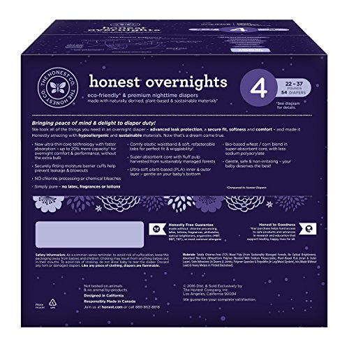 Honest Overnight Baby Diapers, Club Box, Sleepy Sheep, Size 4, 54 Count by The Honest Company (Image #1)