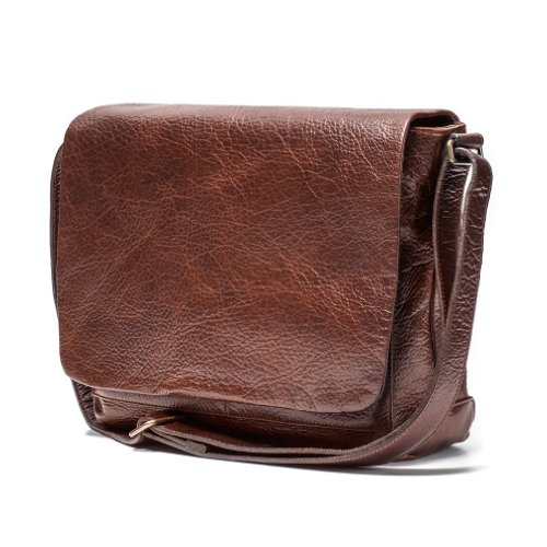 Moore and Giles Sackett Classic Messenger - Hand Stained Citation Sahara by Moores and Giles