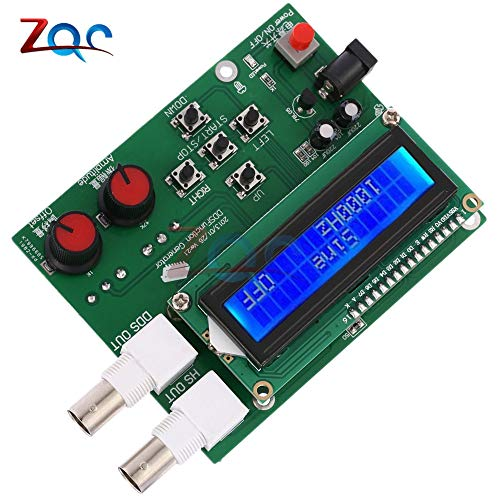 B0833QZY37 Redcolourful DDS Function Signal Generator Sine+Triangular+Square Wave Frequency 1HZ-500KHz White