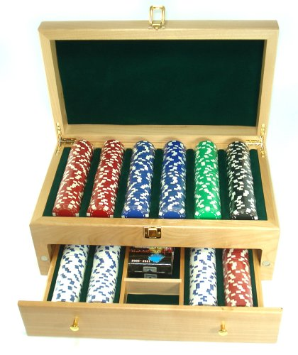 500 Dice Poker Chips in Beautiful Wood Case by Spinettis