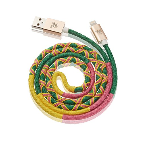 XUANTAI For Apple Certified Lightning Cable to USB charger cable – 3 Feet (1 Meters) Cellphone Cables – Handmade Kits (Green)