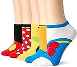 Disney Women's Classic 5-Pack No Show Socks, Multi, 9-11