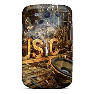Snap-on Case Designed For Galaxy S3- Music Industry