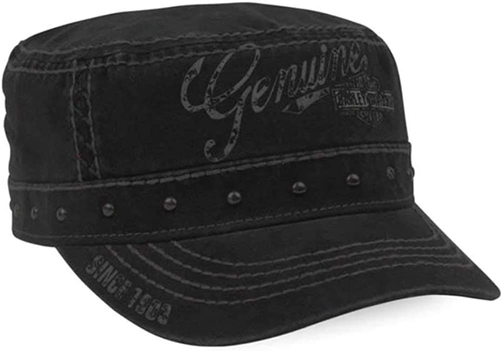 Harley-Davidson Women's Premium Studded Adjustable Painters Cap, Black PC34330