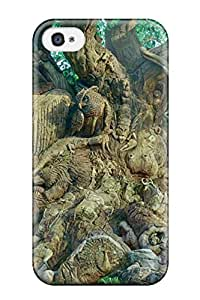 3043487K551979398 branch carved figure animal Anime Pop Culture Hard Plastic iPhone 4/4s cases