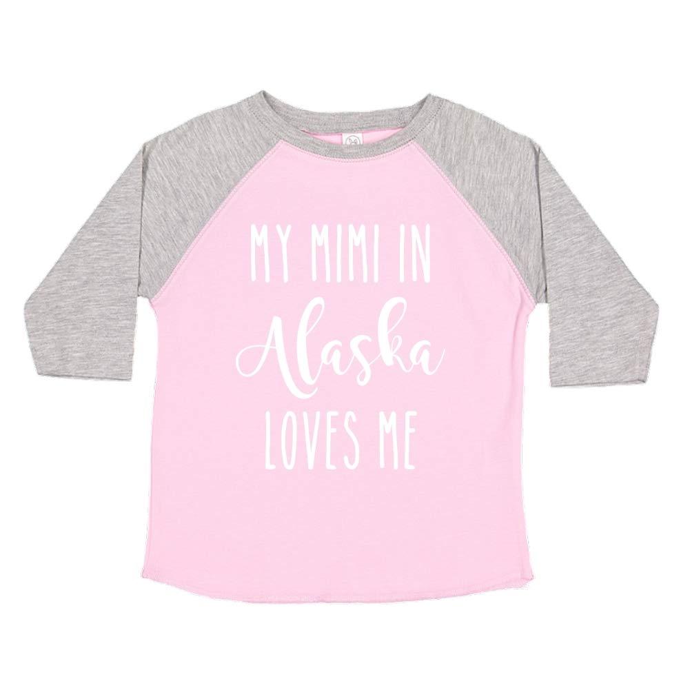 My Mimi in Alaska Loves Me Toddler//Kids Raglan T-Shirt