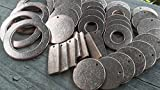 40pc Mix&Match, Metal Stamping Blanks, Washer and Rectangle Bronze Blanks