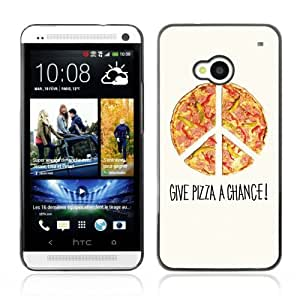Designer Depo Hard Protection Case for HTC One M7 / Cool Pizza Piece
