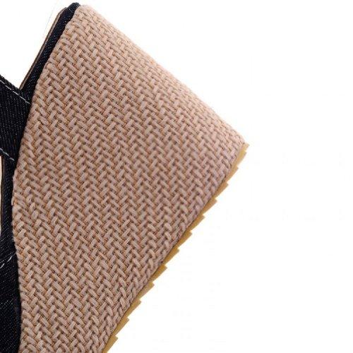 Carol Schoenen Vrouwen Platform Sleehak Peep Toe Sandalen Paars