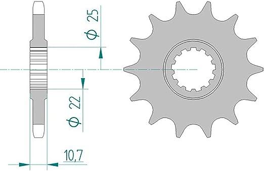 Piñón 21606 – 15 # 525 para TDM 850 (4txl) 1996 – 1998, TRX ...