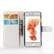 ihpone 6 Case,Hankuke Art Graphic PU Leather Magnet Flip Case with Kickstand and Card Holder for iPhone 6 (4.7-Inch) (white)