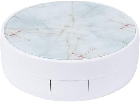 Healifty Estuche para lentes de contacto Marble Pattern Soporte de lentes de contacto portátil para el hogar y los viajes (blanco): Amazon.es: Salud y cuidado personal