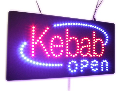 Kebab Open Sign, Super Bright LED Open Sign, Store Sign, ...