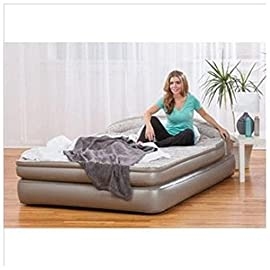 """AeroBed Comfort Anywhere 18"""" Air Mattress with Headboard Design Powerful Built in Ac Pump for Convenient, Super Fast Inflation"""