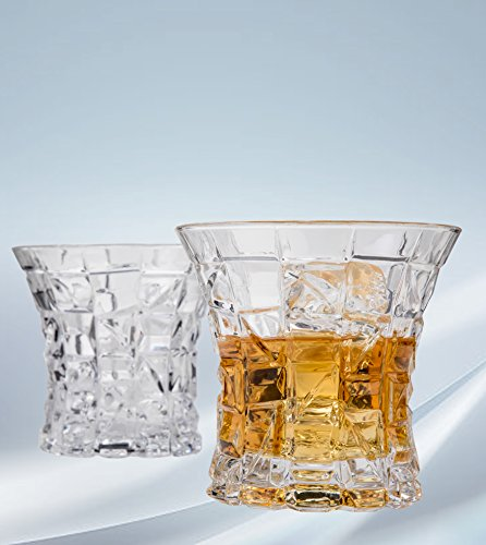 Regal Whiskey Glasses Set of 2 by Angels' Cut. Two, Whisky, Bourbon, Scotch Rocks Glasses. Dishwasher Safe, Lead-Free, Gift Set Glassware. Elegant Glass Tumblers for Alcohol. - Frosted Highball Glass