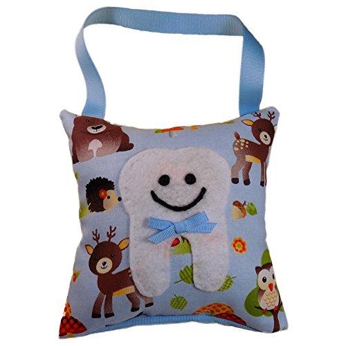 - Tooth Fairy Pillow Keepsake, Girl's Forest Animals, Boy's Forest Animals - Woodland Animal Design Print