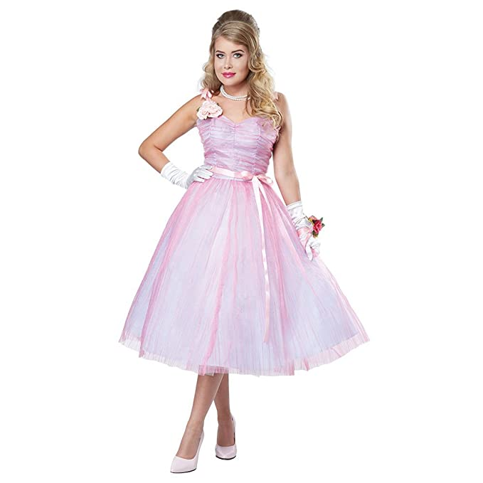 1950s Costumes- Poodle Skirts, Grease, Monroe, Pin Up, I Love Lucy California Costumes 50s Teen Angel Adult Costume- $49.49 AT vintagedancer.com