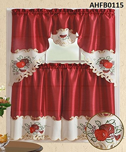 Compare Price: Kitchen Apple Curtains