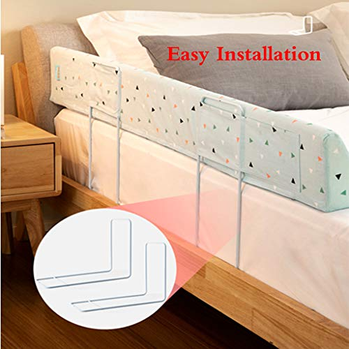 Bed Rail Bumper for Toddlers Kids & Baby Safety Sleep Bed Guard Rail High Rebound Sponge Toddler Bed Rail Bumper Guard Kids' Bed Safety Rail by SONGTING Guardrail (Image #2)