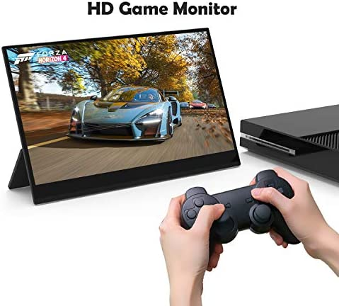 4K Portable Monitor Touchscreen 15.6 Inch UHD 3840×2160 Gravity Sensor Automatic Rotate Game Monitor IPS Eye Care Metal Frame Dual USB with HDMI Type C Speakers for Laptop PC PS4 Xbox Mac Phone 51BB0Q0PJ9L