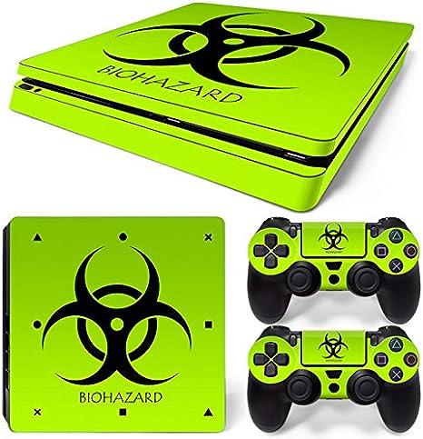 Sony PS4 Playstation 4 Slim Skin Design Foils Pegatina Set - Biohazard Motivo: Amazon.es: Videojuegos