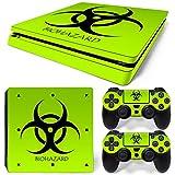 MODFREAKZ™ Console and Controller Vinyl Skin Set - Green Bio Hazard for PS4 Slim