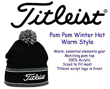 d0e65f71622 Image Unavailable. Image not available for. Colour  Titleist Pom Pom Winter  Hat ...