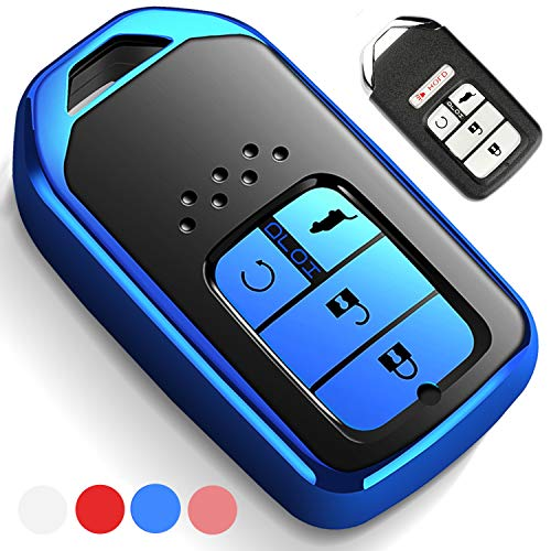 Uxinuo Compatible with Honda Key Fob Cover Case for Honda Accord Civic CR-V CRV Pilot EX-L Touring Smart Premium Soft TPU Full Cover Protection Smart Remote Keyless Key Fob - Accord Touring Honda