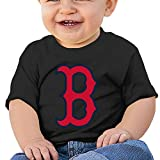 DVPHQ Baby's Boston Red B Logo Sox Tee Little Boy's & Girl's Black Size 6 M (6-24 Months)