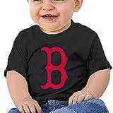 DVPHQ Baby's Boston Red B Logo Sox T-shirt Tops Little Boy's & Girl's Black (6-24 Months)