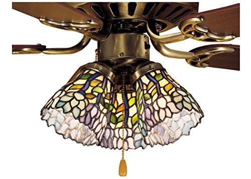 Meyda Tiffany 27476 Wisteria Fan Light Shade, 4