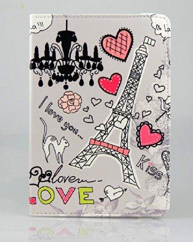 KolorFish iPrint Designer Funky Leather Book Type Flip Case Cover for Apple iPad 2, iPad 3, iPad 4  Grey