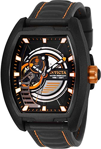 Invicta S1 Rally Automatic Black Dial Mens Watch 26893 (Tonneau Watch Automatic)