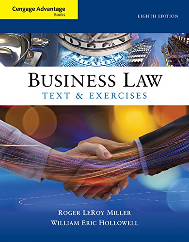 Cengage Advantage Books: Business Law: Text and Exercises (Business Advantage Students compare prices)