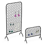 MyGift Metal Chicken Wire Earring Organizer Racks, Set of 2