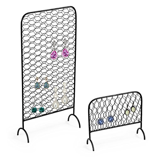 MyGift Metal Chicken Wire Earring Organizer Racks, Set of 2 by MyGift (Image #5)