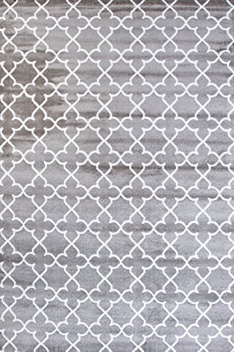 9070 Gray Moroccan Trellis 5'2x7'2 Area Rug Carpet Large New (Large Area Rugs For Cheap)