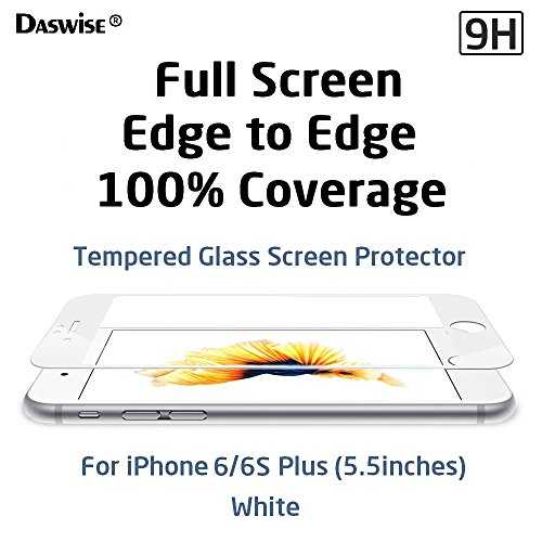 iPhone 6s Plus, iPhone 6 Plus Screen Protector, Daswise Full Screen Anti-scratch...