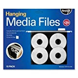 Wholesale CASE of 10 - Ideastream Hanging CD/DVD Pages-Hanging CD/DVD Pages ,w/ Insert Tabs, Top Load, 15/PK, Black