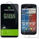 Moto X (1st Gen) Glass Screen Protector, Dmax Armor® Ballistics [Tempered Glass] Motorola Moto X (1st Generation), 99% Touch-screen Accurate, Anti-Fingerprint, Bubble Free, [0.3mm]-Retail Packaging