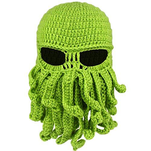 Octopus Balaclava Face Mask Winter Wool Windproof Warm Ski Mask for Men or Women