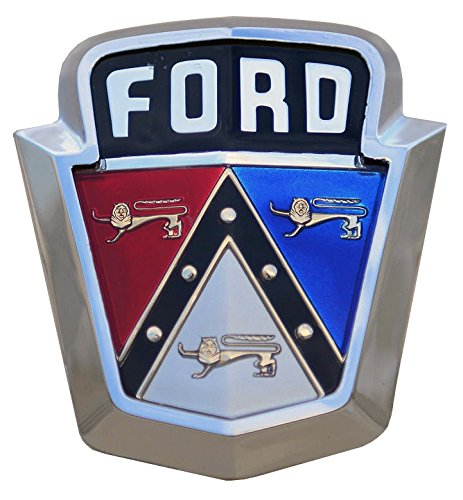 white ford emblem decal - 1