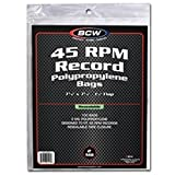 BCW 1-BAG-45RPM-R Bcw Resealable 45 Rpm Record Bags