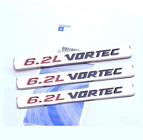 Yoaoo® 3pcs OEM 6.2L Vortec Hood Emblem Engine Badges Front Door 6.2 L Silverado Z71 GMC Sierra Colorado Avalanche 3D Chrome (Engine Vortec compare prices)